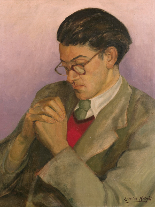 Oil on canvas of Ian Bell by Laura Knight dated 1957