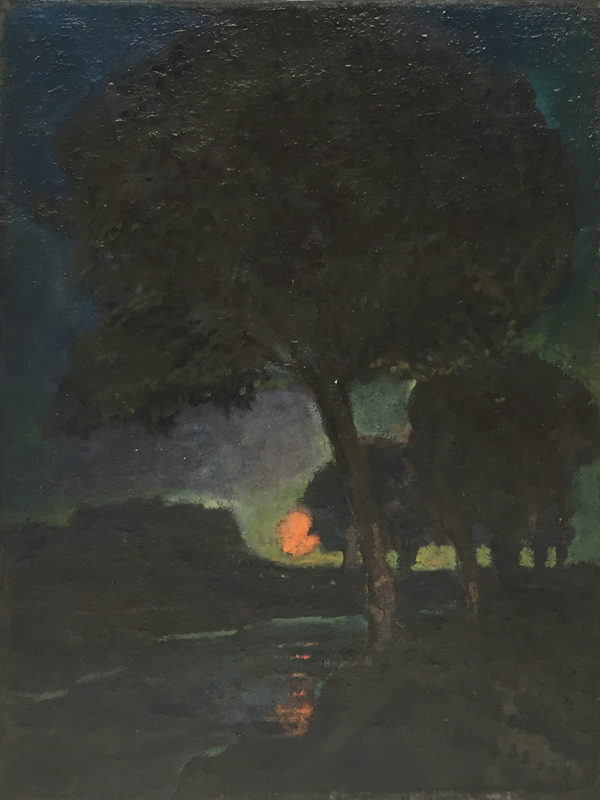 Oil on canvas of Rye by James Bolivar Manson dated 1914