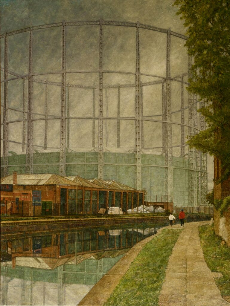 Gasometer by Doreen Fletcher Sold