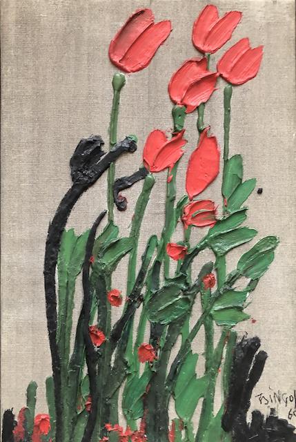 Tulips by Thanos Tsingos 1960 £2,250